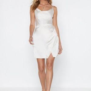 Cowl About Mini Dress